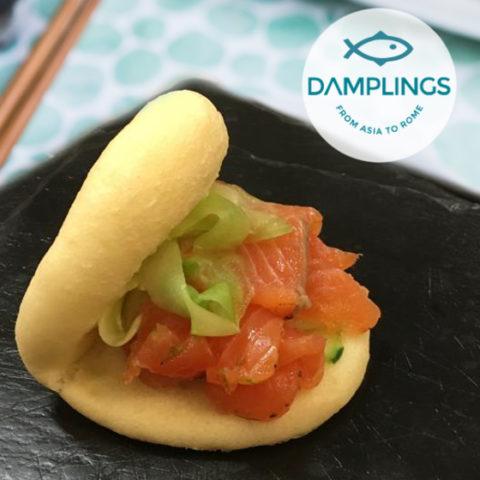 Gua Bao al Salmone Marinato